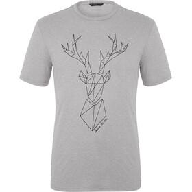 SALEWA Big Deer Dry Maglietta a Maniche Corte Uomo, grigio